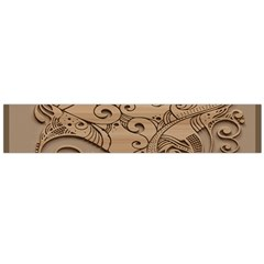 Wood Sculpt Carved Background Large Flano Scarf
