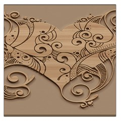 Wood Sculpt Carved Background Large Satin Scarf (square)