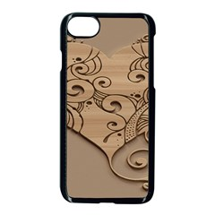 Wood Sculpt Carved Background Apple Iphone 8 Seamless Case (black)