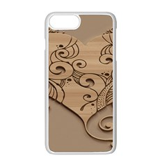 Wood Sculpt Carved Background Apple Iphone 8 Plus Seamless Case (white)