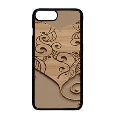 Wood Sculpt Carved Background Apple Iphone 8 Plus Seamless Case (black)