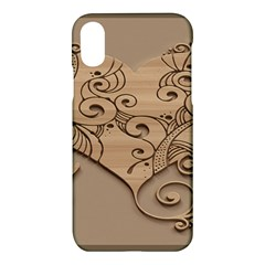 Wood Sculpt Carved Background Apple Iphone X Hardshell Case