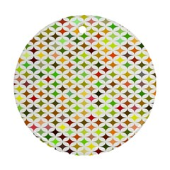 Background Multicolored Star Ornament (round)