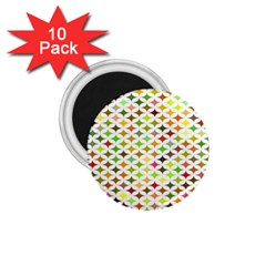 Background Multicolored Star 1 75  Magnets (10 Pack)
