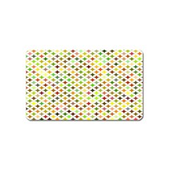 Background Multicolored Star Magnet (name Card)