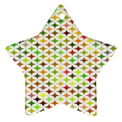 Background Multicolored Star Star Ornament (two Sides)