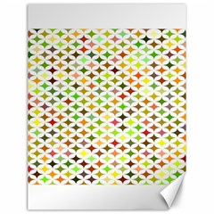 Background Multicolored Star Canvas 12  X 16
