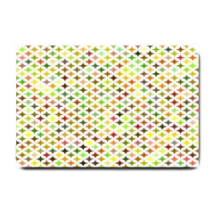 Background Multicolored Star Small Doormat