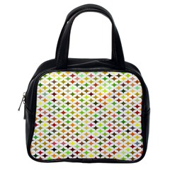 Background Multicolored Star Classic Handbags (one Side)
