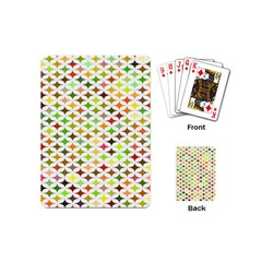 Background Multicolored Star Playing Cards (mini)