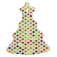 Background Multicolored Star Christmas Tree Ornament (two Sides)