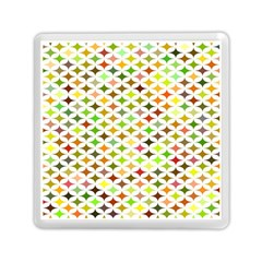 Background Multicolored Star Memory Card Reader (square)