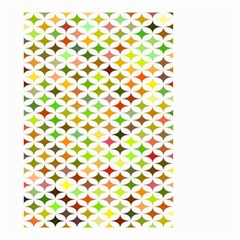 Background Multicolored Star Small Garden Flag (two Sides)
