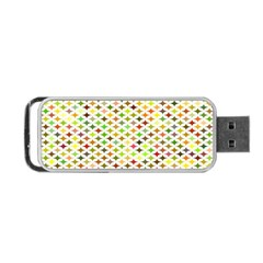 Background Multicolored Star Portable Usb Flash (one Side)