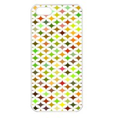 Background Multicolored Star Apple Iphone 5 Seamless Case (white)