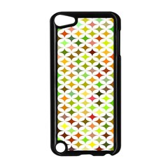 Background Multicolored Star Apple Ipod Touch 5 Case (black)