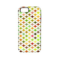 Background Multicolored Star Apple Iphone 5 Classic Hardshell Case (pc+silicone)