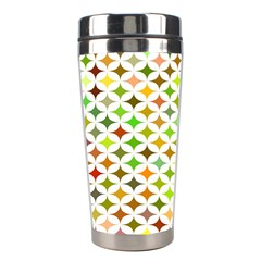 Background Multicolored Star Stainless Steel Travel Tumblers