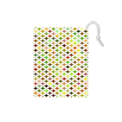 Background Multicolored Star Drawstring Pouches (small)