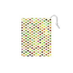 Background Multicolored Star Drawstring Pouches (xs)