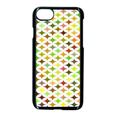 Background Multicolored Star Apple Iphone 8 Seamless Case (black)