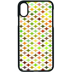Background Multicolored Star Apple Iphone X Seamless Case (black)