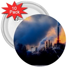 Warming Global Environment Nature 3  Buttons (10 Pack)