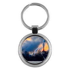 Warming Global Environment Nature Key Chains (round)