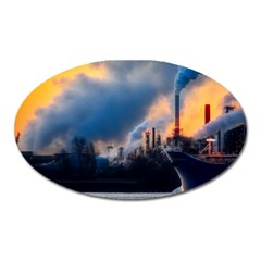 Warming Global Environment Nature Oval Magnet