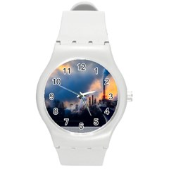 Warming Global Environment Nature Round Plastic Sport Watch (m)