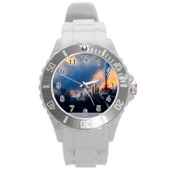 Warming Global Environment Nature Round Plastic Sport Watch (l)