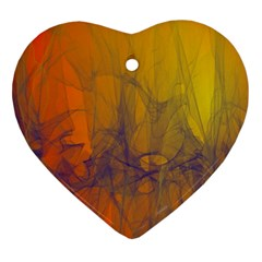 Fiesta Colorful Background Ornament (heart)