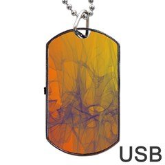 Fiesta Colorful Background Dog Tag Usb Flash (two Sides)