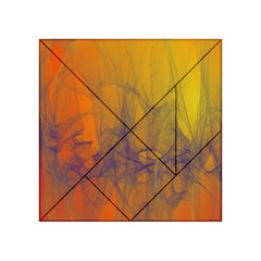 Fiesta Colorful Background Acrylic Tangram Puzzle (4  X 4 )
