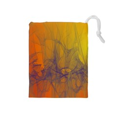 Fiesta Colorful Background Drawstring Pouches (medium)