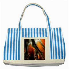 Fractal Structure Mathematics Striped Blue Tote Bag