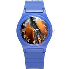 Fractal Structure Mathematics Round Plastic Sport Watch (s)