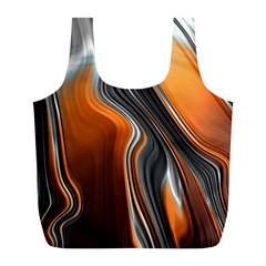 Fractal Structure Mathematics Full Print Recycle Bags (l)
