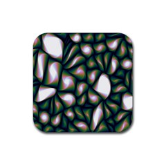 Fuzzy Abstract Art Urban Fragments Rubber Coaster (square)