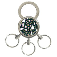 Fuzzy Abstract Art Urban Fragments 3 Ring Key Chains
