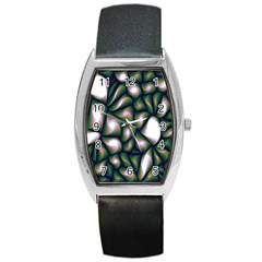 Fuzzy Abstract Art Urban Fragments Barrel Style Metal Watch