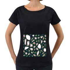 Fuzzy Abstract Art Urban Fragments Women s Loose Fit T Shirt (black)