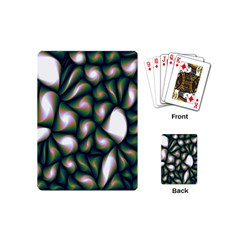 Fuzzy Abstract Art Urban Fragments Playing Cards (mini)