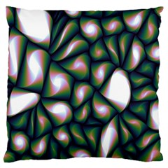 Fuzzy Abstract Art Urban Fragments Large Cushion Case (one Side)