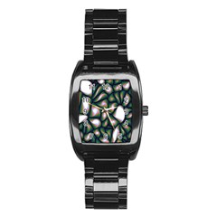 Fuzzy Abstract Art Urban Fragments Stainless Steel Barrel Watch