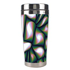 Fuzzy Abstract Art Urban Fragments Stainless Steel Travel Tumblers