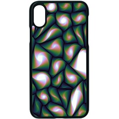 Fuzzy Abstract Art Urban Fragments Apple Iphone X Seamless Case (black)