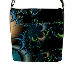 Fractal Art Artwork Digital Art Flap Messenger Bag (l)