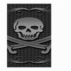 Skull Metal Background Carved Small Garden Flag (two Sides)