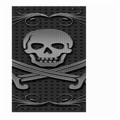 Skull Metal Background Carved Large Garden Flag (two Sides)